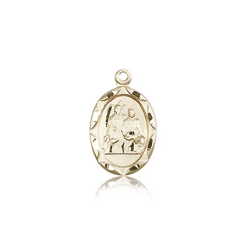 Women's Oval St. Raphael Medal - 14K Yellow Gold