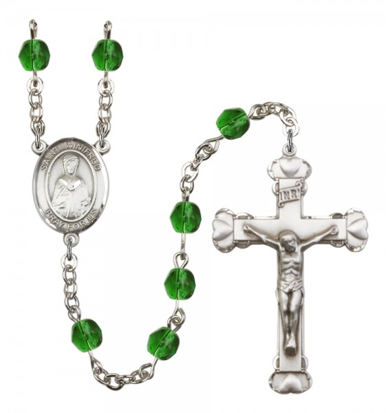 Women's St. Winifred of Wales Birthstone Rosary - Emerald Green
