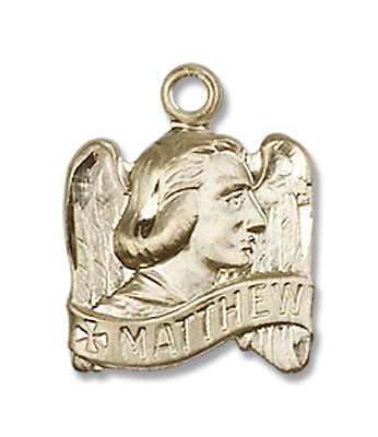 Women's Winged St. Matthew Medal - 14K Solid Gold