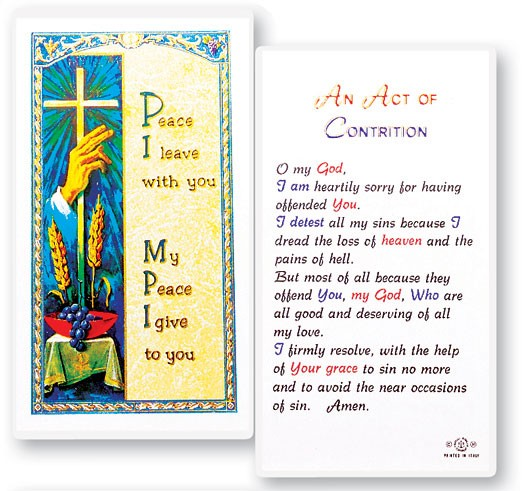 Act of Contrition Laminated Prayer Cards 25 Pack