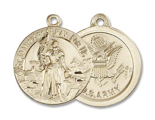 Army St. Joan of Arc Medal - 14K Solid Gold