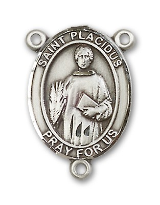 St. Placidus Rosary Centerpiece Sterling Silver or Pewter - Sterling Silver