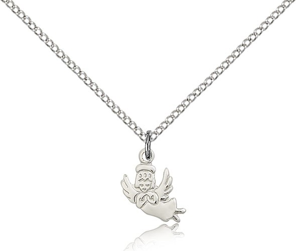 Baby Angel Medal - Sterling Silver