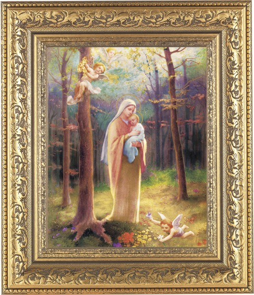 Madonna of the Woods Framed Print - #115 Frame