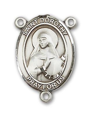 St. Dorothy Rosary Centerpiece Sterling Silver or Pewter - Sterling Silver