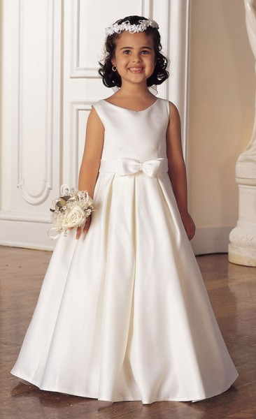 first communion dress with box pleated skirt white white