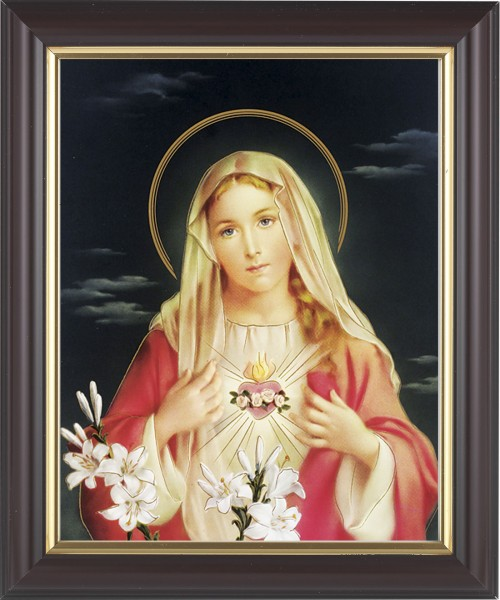 Immaculate Heart of Mary Framed Print - #133 Frame