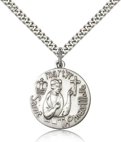 Men's St. Thomas More Medal - Sterling Silver