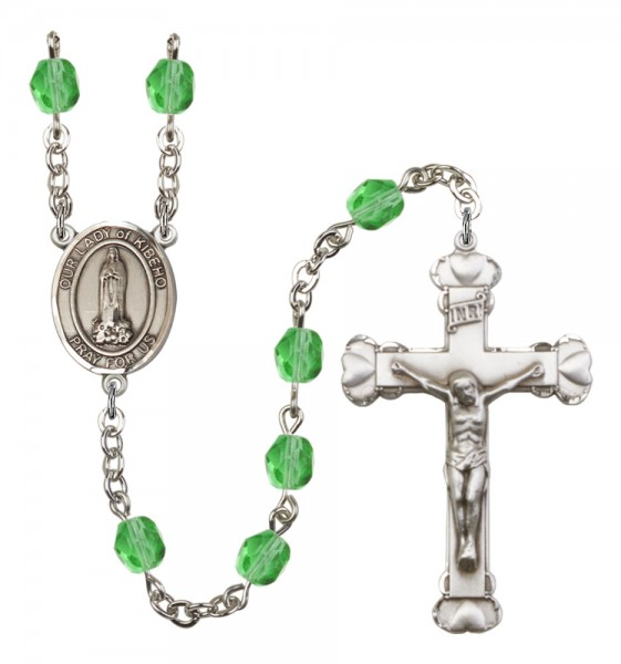 Women's Our Lady of Kibeho Birthstone Rosary - Peridot