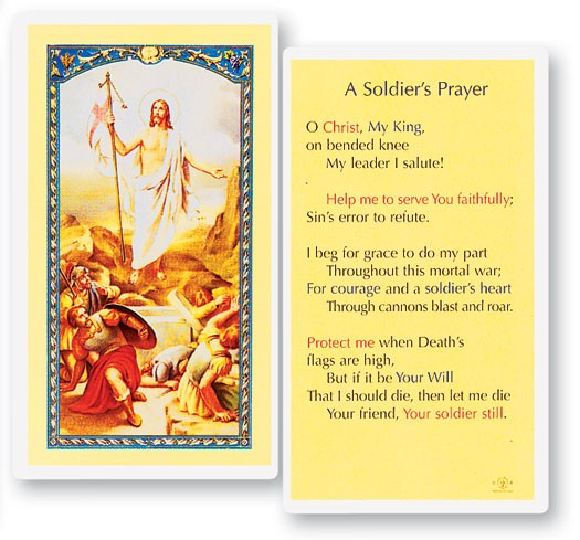 Soldier S Laminated Prayer Cards 25 Pack