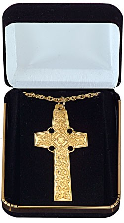 Pectoral Celtic Cross Pendant - Gold