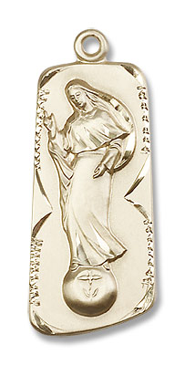 Our Lady of Mental Peace Medal - 14K Yellow Gold
