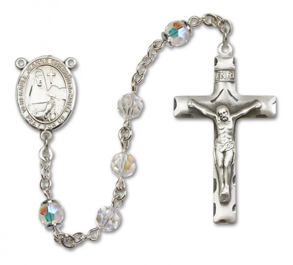 Jeanne Chezard de Matel Rosary Heirloom Squared Crucifix - Crystal