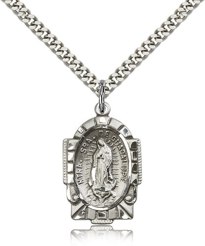 Our Lady of Guadalupe Medal - Sterling Silver