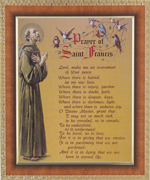 Prayer of St. Francis Framed Print - #122 Frame