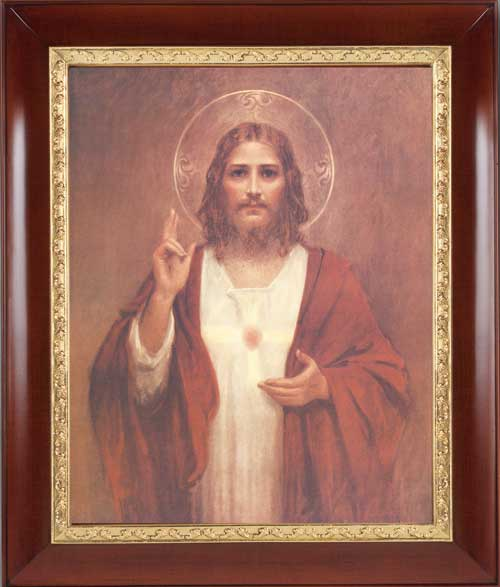 Sacred Heart of Jesus Framed Print - 4 Frame Options Available - #27 Frame