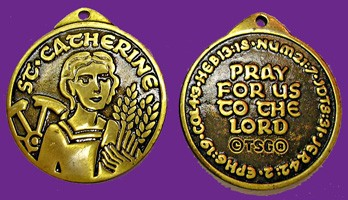 Saint Catherine of Alexandria Pendant - Bronze