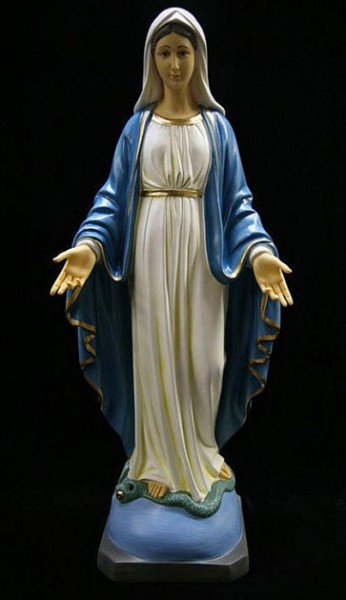 Our Lady of Grace Statue Hand Painted Marble Composite - 23.5 inch - Multi-Color