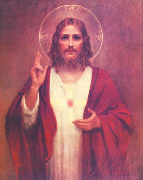 Sacred Heart of Jesus Print - Sold in 3 per pack - Multi-Color