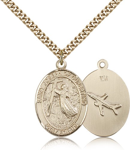 St. Joseph of Cupertino Medal - 14KT Gold Filled