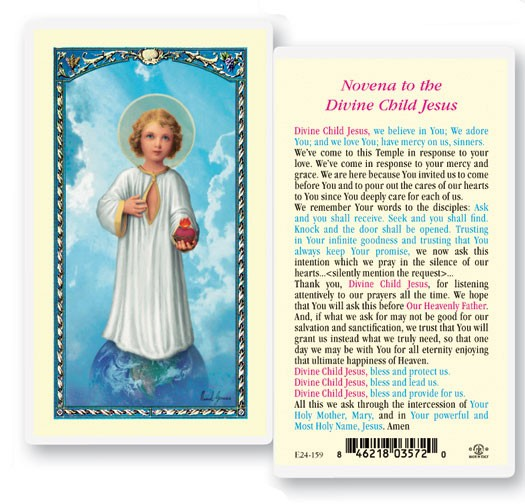 Novena To The Divine Child Laminated Prayer Cards 25 Pack
