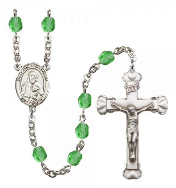 Women's St. James the Lesser Birthstone Rosary - Peridot