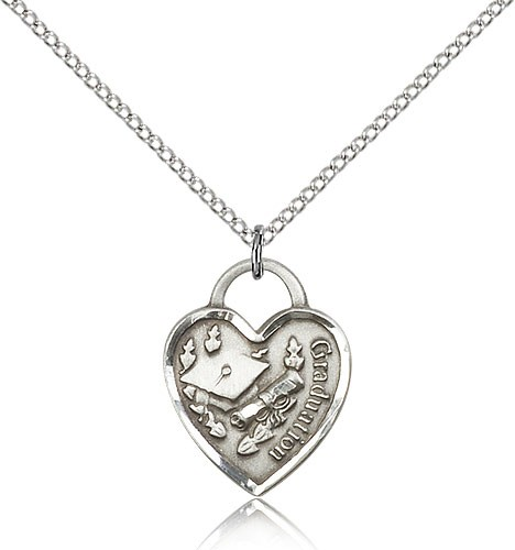 Graduation Heart Pendant - Sterling Silver