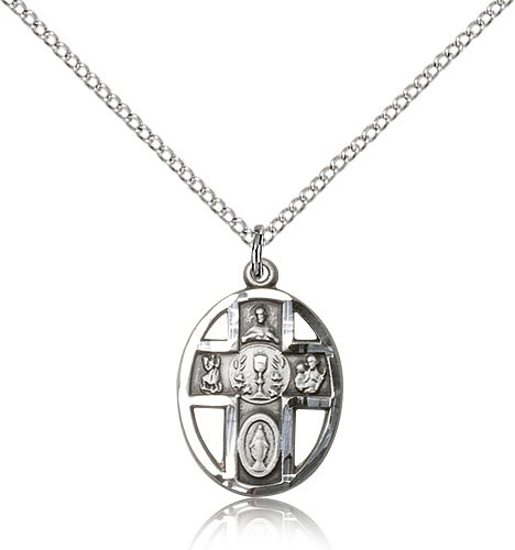 5-Way Chalice Pendant - Sterling Silver