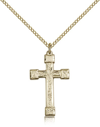 Women's Alpha Omega Cross Pendant - 14KT Gold Filled