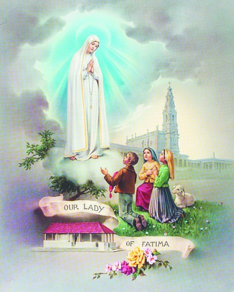 Our Lady of Fatima Print - Sold in 3 per pack - Multi-Color