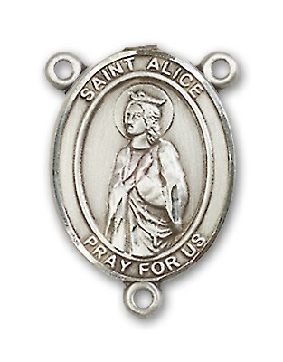 St. Alice Rosary Centerpiece Sterling Silver or Pewter - Sterling Silver