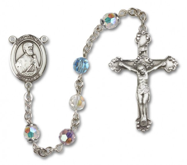 St. Thomas the Apostle Rosary Heirloom Fancy Crucifix - Multi-Color