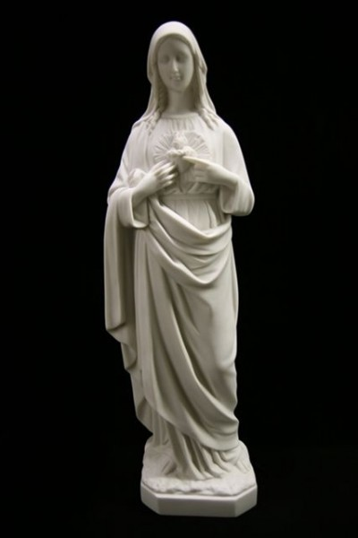 Immaculate Heart of Mary Statue White - 25 inch - White