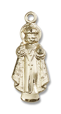 Infant of Prague Medal - 14K Solid Gold