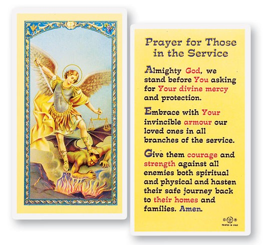 Prayer For Those In The Service Laminated Prayer Cards 25 Pack - Full Color
