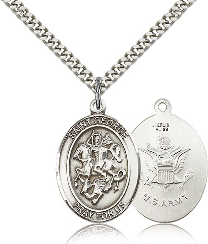 St. George Army Medal - Sterling Silver