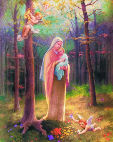 Madonna of the Woods Print - Sold in 3 per pack - Multi-Color