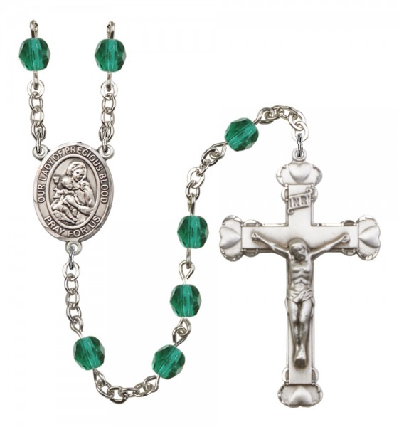 Women's Our Lady of the Precious Blood Birthstone Rosary - Zircon