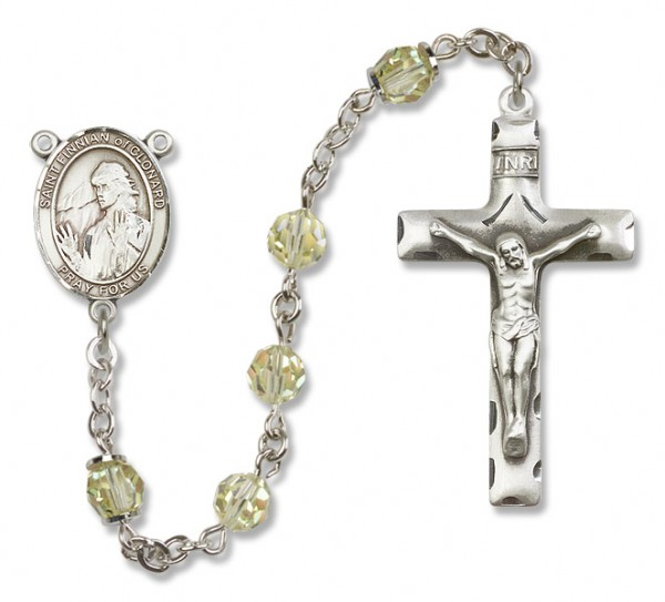 St. Finnian of Clonard Sterling Silver Heirloom Rosary Squared Crucifix - Jonquil