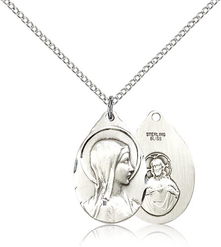 Sorrowful Mother Pendant - Sterling Silver