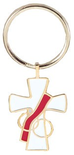 Deacon's Wife Keyring - Gold Tone