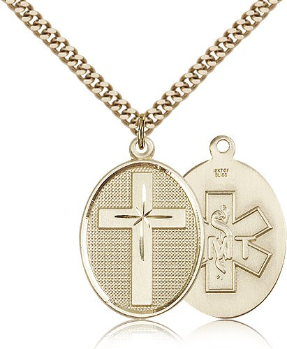 Cross EMT Pendant - 14KT Gold Filled