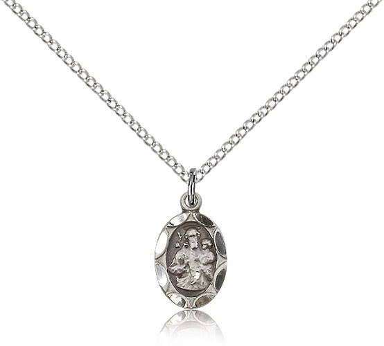 Youth Size Charm Medal of St. Joseph - Sterling Silver
