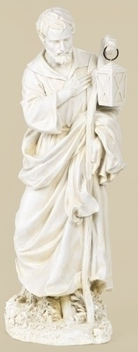 "St. Joseph Statue, 27.5"" H for 27"" Scale Nativity Set - Natural Stone"