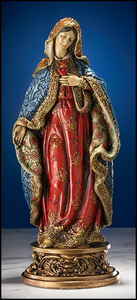 "Immaculate Heart of Mary Statue - 9.25""H - Multi-Color"