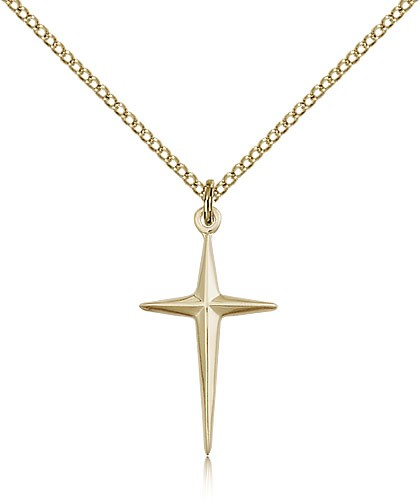 North Star Cross Pendant - 14KT Gold Filled