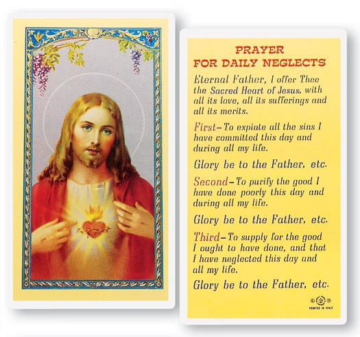 Prayer For Daily Neglects Laminated Prayer Cards 25 Pack - Full Color