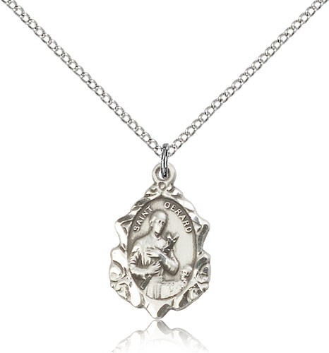 Womens st gerard medal womens st gerard medal sterling silver aloadofball Image collections