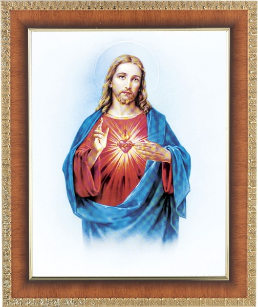 Sacred Heart of Jesus Framed Print - #122 Frame