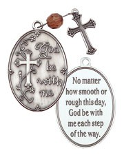 God Be With Me Prayer Pocket Prayer - Silver